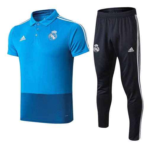 Polo Real Madrid Lapel Bleu 2019