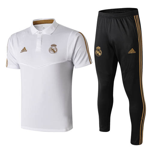 Polo Real Madrid Lapel Blanc 2019