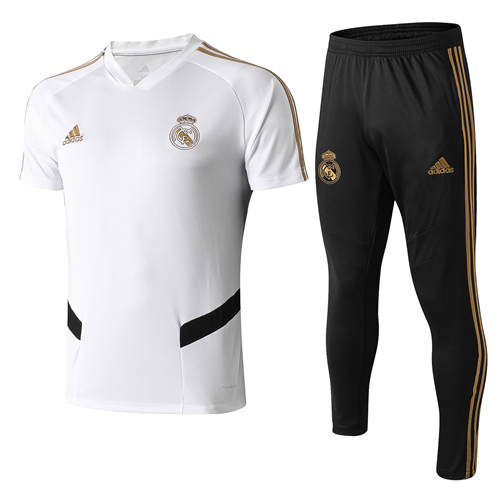 Polo Real Madrid Blanc Noir 2019