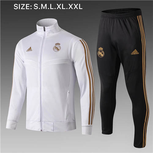 Vestes Real Madrid Blanc Gold 2019